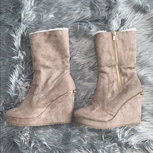 NWOB Juicy Couture Wedge Boots